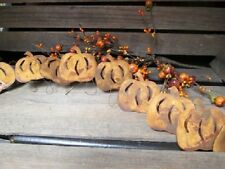 RUSTY PUMPKIN GARLAND * 6' * PRIMITIVE GATHERING CRAFTS DECOR COUNTRY RUSTIC