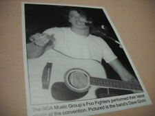 Foo Fighters Dave Grohl at convention 2000 music biz promo pic with text