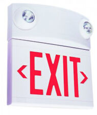 Free Shipping Dual Lite White Emergency Exit Sign Fire Alert Warning Light New