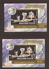 HUNGARY- Apollo 11 souvenir sheet both perf. and imperf