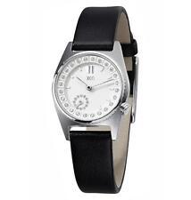 Runde Damen-Armbanduhren mit Armband aus echtem Leder für Erwachsene