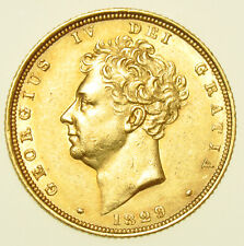 More details for 1829 george iv gold sovereign, british coin ef/au