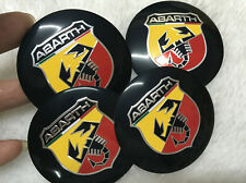4Pcs 56.5mm Abarth Car Wheel Center Hub Cap Badge Emblem Decal Sticker for FIAT