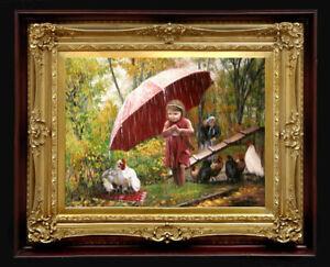 "Oil Painting PRINTED on Canvas Artwork ~ SAVIOR 24"" X 18"" NO FRAME Art Artist"