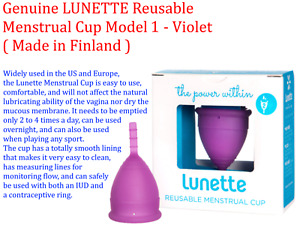 Genuine LUNETTE Reusable Menstrual Cup Model 1 - Violet ( Made in Finland )