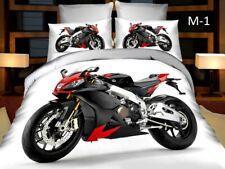 Boys Bedding Duvet Cover + Pillow Cases + Sheet Set Single EU 160x200 motorbike