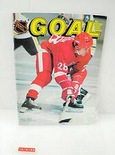 Vintage Goal Hockey Magazine Reed Larson w/ Stats
