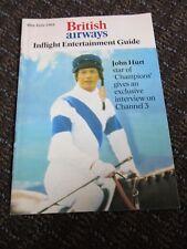 British Airways Collectible John Hurt 1980s Inflight Entertainment Guide Vintage