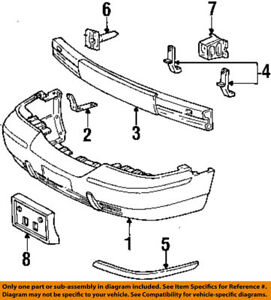 OE FORD R Front Bumper Shock Impact Energy Absorber F8AZ-17754-AA Crown Victoria