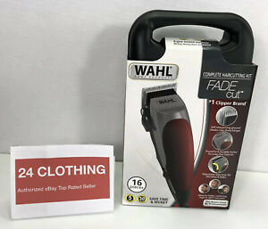New WAHL Fade Cut 16 Piece Haircutting Kit Clippers **FREE SAME DAY SHIPPING**