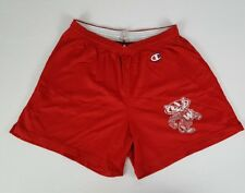 Vintage 70's 80's Champion Wisconsin Badgers Gym Athletic Shorts Bucky Made USA