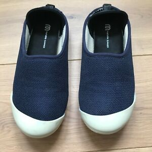 MAHABIS Navy Blue Summer Slippers EU38 UK5 with Cream Soles
