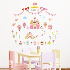 Decowall Princess Castle Nursery Kids Removable Wall Stickers Decal DW-1207