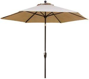 Patio Umbrella 9 ft. Aluminum Manual Tilt UV Protected with Crank Lift System