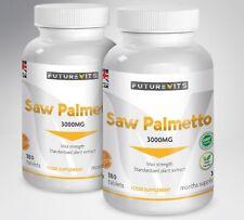 Extrait de Palmier Nain 3000mg Haute Résistance 2 x 180 Flacons Prostate Santé
