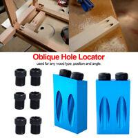 14Pcs Oblique Hole Locator 15 Degree Pocket Hole Screw Jig Dowel Drill Bit #P