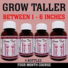 Bone Growth, Be Taller, 4 Month Supply, 4 Bottles, Grow with GT 240 Capsules