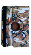 BROWN CAMOUFLAGE FOLIO CASE IPAD MINI 1/2/ 3 360 ROTATING STAND TABLET COVER