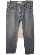 LEVI'S men's light wash distressed 505 Straight Fit jeans size 36X34