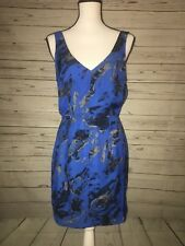 Silence+noise Urban Outfiters Blue zippered Open Back Sleevless Dress 8