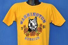 vintage 80s WASHINGTON HUSKIES ROSE BOWL 1981 CHAMPION t-shirt COLLEGE MEDIUM M