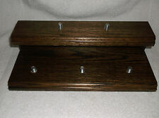 Dark Stained Oak. 5 Beer Tap Handle Display  Stand