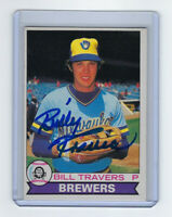 1979 BREWERS Bill Travers signed card Topps OPC #213 AUTO Autographed Milwaukee