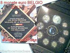 2013 Belgio 8 monete 3,88 EURO Belgium Belgica belgique Vallonia Wallonie UNESCO