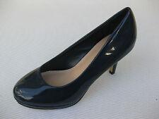 Pierre Dumas Womens Shoes NEW $48 Tango Navy Blue Patent Pump 6 M