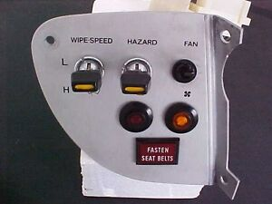 Ferrari 308 GT4 Dino Wiper Speed Hazard Fan Dash Switch Plate Assembly  OEM