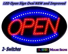 LED Open Sign Neon Letrero Abierto para Negocio 2 Switches New Improved LED Sign