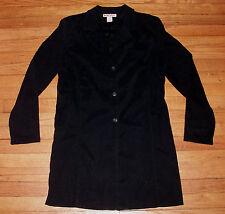 BRIGGS L/S 3/4 Coat Sz M Solid Black Jacket NWOT