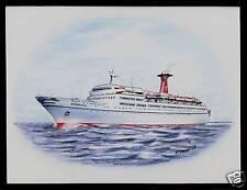 Original Art Work .ms Hamburg. German Atlantic Line. ocean liner