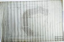 ORIGINAL 1915 BOSTON BRAVES FIELD STADIUM HANDDRAWN INK/PENCIL VELUM BLUEPRINT