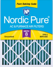 Nordic Pure 20x24x2 Pure Baking Soda Odor Deodorizing Ac Furnace Filters 3 Pack