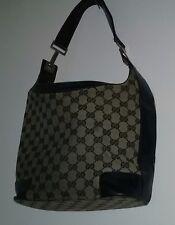 0de883c921d Classic Vintage Gucci Handbag -Black Grey- Gucci Print Monogram - Good  Condition