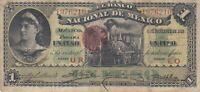 Paper Money - Mexico - 1 Pesos - 6-12-1913 - P-5255b - M-296b - VG