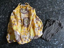 Lot Robe boule jaune OKAIDI fille taille 6 ans + leggings 7 ans