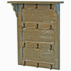 Wooden Wall Mounting Organiser Keys Holder Hooks with Shelf organiser