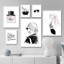 Perfume Handbags Makeup Canvas Print Fashion Lady Wall Art Poster Room Decor