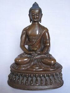 An old look copper BUDDHA traditional statue hand made carving collectible