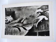 """PHOTO ANCIENNE TABLEAU EROTIQUE SALON DE PARIS V. TARDIEU """"LA FEMME NUE"""" c.1910"""