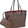 Checkered Tote Bag for Women Leather Shoulder Strap With Inner Pouch