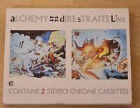 Dire Straits - Alchemy - Dire Straits Live - 2X BOXED CASSETTE tapes SLIP CASE