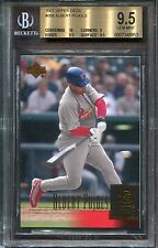 2001 Upper Deck #295 Albert Pujols RC BGS 9.5 w 10 600 Homeruns