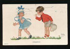 Sweden CHICKY SPARK Children Girls Schuchtern 1930 PPC