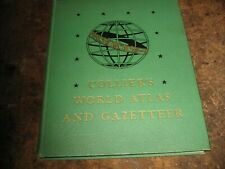 VINTAGE 1949 COLLIER'S WORLD ATLAS AND GAZETTEER HARDCOVER BOOK MAPS LARGE