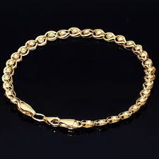 Filigranes Armband 585 14K ECHT GOLD 18cm 4mm Geschnk Idee Weihnachten Damen