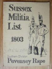 Sussex Militia List, 1803: Pevensey Rape Southern Division