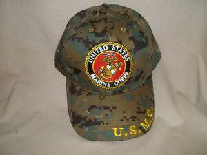 Dark Green Camo United States Marine Corps Ball Cap